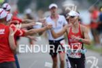 Corinne Abraham on the run at the Ironman European Championship…