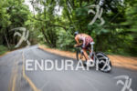 Adrienne Smith races on the technical roads during the bike…