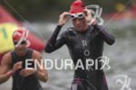 Athletes complete the swim leg at the 2014 Ironman 70.3…