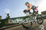Rudy Garcia-Tolson during the bike leg at  Challenge Datev Roth,…