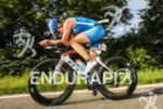 Danniela Sammler during the bike leg at the Challenge Datev…