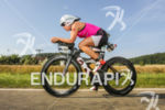 Anja Beranek during the bike leg at the Challenge Datev…