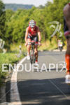 Caroline Steffen during the bike leg at the Challenge Datev…
