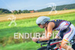 Rachel Joyce riding at the 2014 Challenge Roth in Roth,…