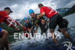 Athlete getting out of the water at the EDF Alpe…