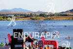 Athletes finish up swim at the  Ironman Boulder on August…
