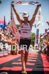 Justin Daerr is victorious at the  Ironman Boulder on August…