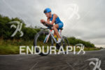 Laura Philipp on the bike at the Ironman 70.3 European…