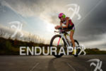 Leanda Cave on the bike at the Ironman 70.3 European…