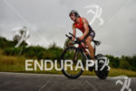 Bart Aernouts on the bike at the Ironman 70.3 European…