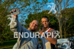 Athletes take a selfie at the 2014 Ironman 70.3 Foz…