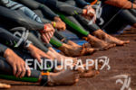 Elite athletes wait for race start at the 2014 Ironman…