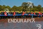 Athletes wait for race start at the 2014 Ironman 70.3…