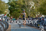 Athlete exits T1 at the 2014 Ironman 70.3 Foz do…