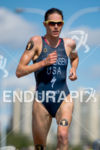 Gwen Jorgensen (USA) running for victory at the 2014 ITU…