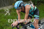 Jenny Fletcher on the bike at the Ironman 70.3 Zell…