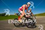 Eventual 4th place finisher Matt Hanson cycles past age groupers…