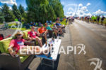 Local residents support and enjoy the cyclists along one of…