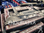 Finisher medals await their recipients at the 2014 Nation's Triathlon…