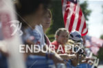 Spectators at the finish at the 2014 Nation's Triathlon in…