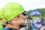 Javier Gomez prior to the race start at the 2014…