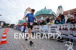 age group athlete during the run portion of the Ironman…