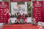 Age groupers reach the finish at the 2014 Beijing International…