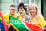 Supporters from South Africa at the 2014 Ironman Wales in…