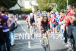 Age Grouper Andrea Mason leads on the on the bike…