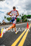 Tim O'Donnell runs down Ali'i' Drive at the Ironman World…