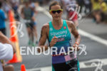 Linsey Corbin on run at the Ironman World Championship in…