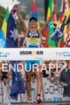 Mirinda Carfrae wins the Ironman World Championship in Kailua-Kona, Hawaii…