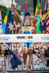 Mirinda Carfrae (AUS) wins the Ironman World Championship in Kailua-Kona,…