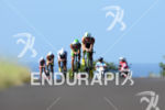 Group of pro athletes at the climb to Hawi: Frederik…