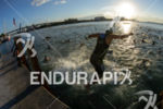 Age grouper athlete during the swim portion of the 2014…