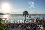 Athletes during the swim portion of the 2014 Ironman 70.3…