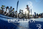 Athlete during the transition of the 2014 Ironman 70.3 Miami…