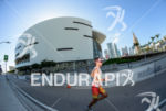 Pro Athlete during the run portion of the 2014 Ironman…