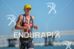 Richie Cunningham during the run portion of the 2014 Ironman…