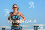 Magalo Tisseyre during the run portion of the 2014 Ironman…