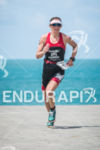 Jessie Donavan during the run portion of the 2014 Ironman…