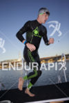 Brent McMahon exiting the water at Ironman Arizona on November…