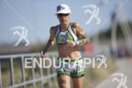 Meredith Kessler shortening the gap during the run at Ironman…