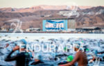 Athletes enter the Red Sea for the start of the…