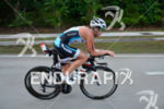 Rebekah Keat during the bike portion of the 2015 Ironman…