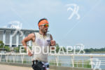 Frédéric Limousin during the run portion of the 2015 Ironman…