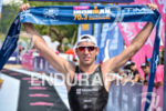 Domenico Passuelo crosses the finish line of the 2015 Ironman…
