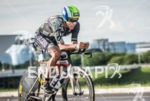 Santiago Ascenco during the bike portion of the 2015 Ironman…