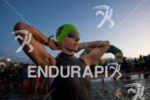 Athlete prepares for the swim start of the 2015 Ironman…