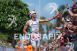 Alessandro Degasperi at the finish of the 2015 Ironman Lanzarote…